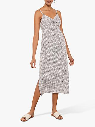 Mint Velvet Sofia Print Tie Midi Dress, Multi