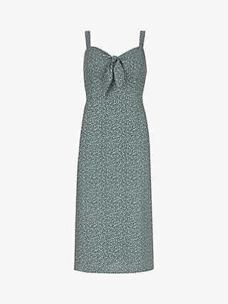 Mint Velvet Tash Print Tie Midi Dress, Multi
