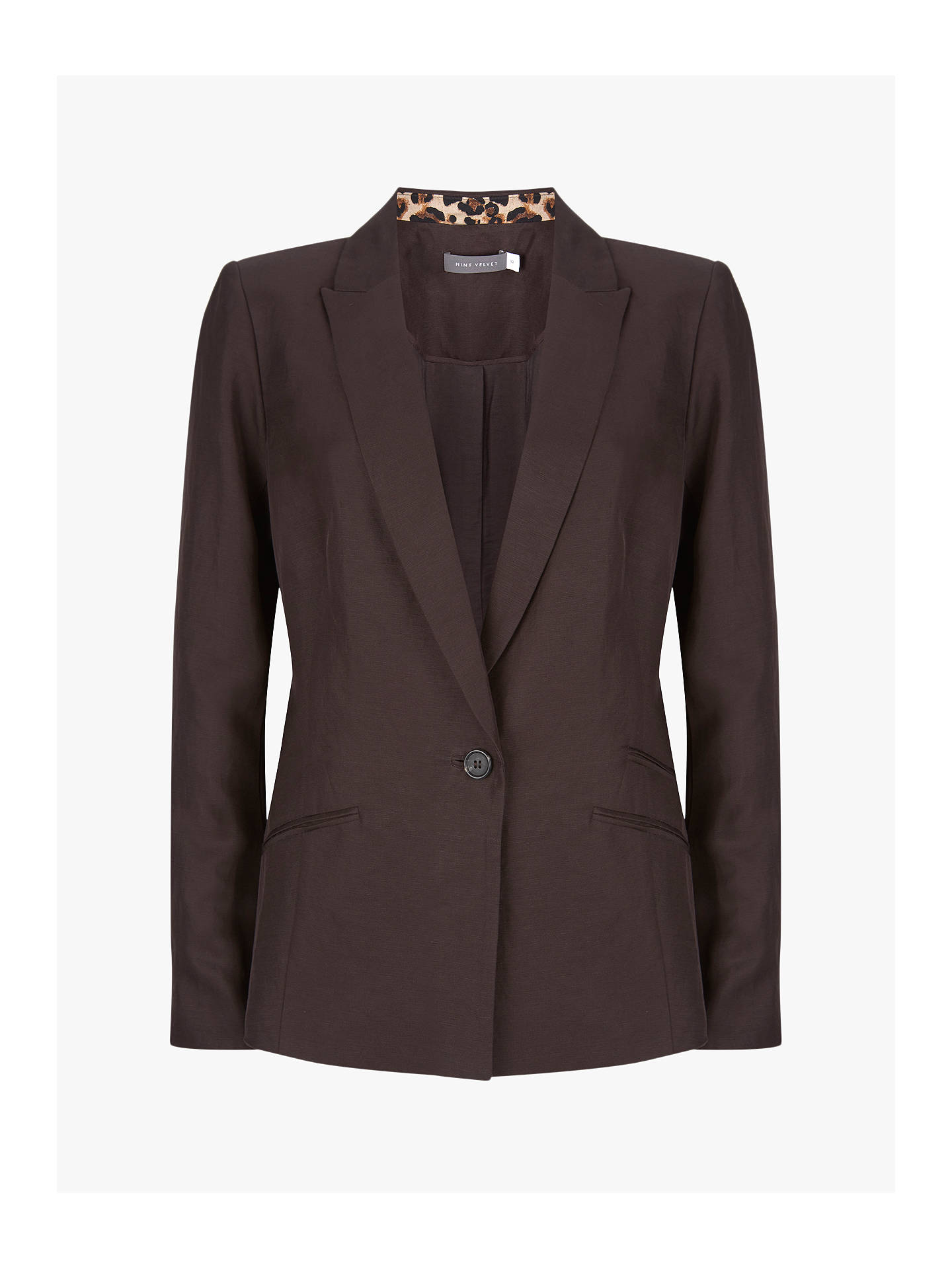 Mint Velvet Tailored Blazer, Brown by Mint Velvet