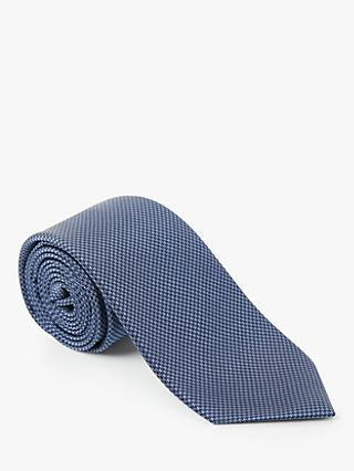 John Lewis & Partners Plain Silk Textured Weave Tie