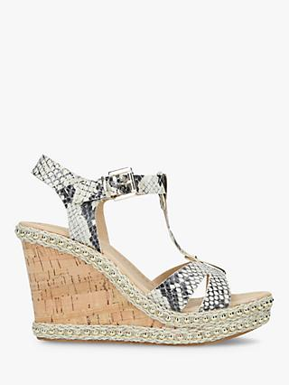 f5bfbb9016 Carvela Kover Wedge Heel Sandals, Natural/Multi