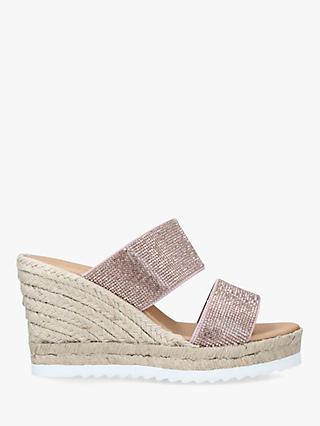 Carvela Klear Woven Wedge Suede Sandals
