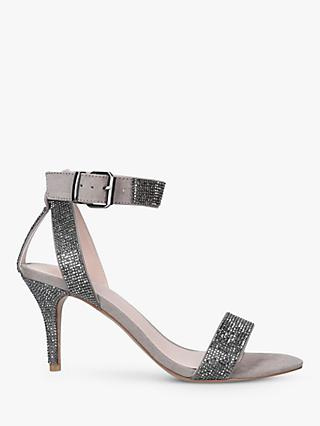 Carvela Godiva Embellished Sandals, Grey Mid