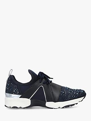 Carvela Lament Bling Lace Up Trainers