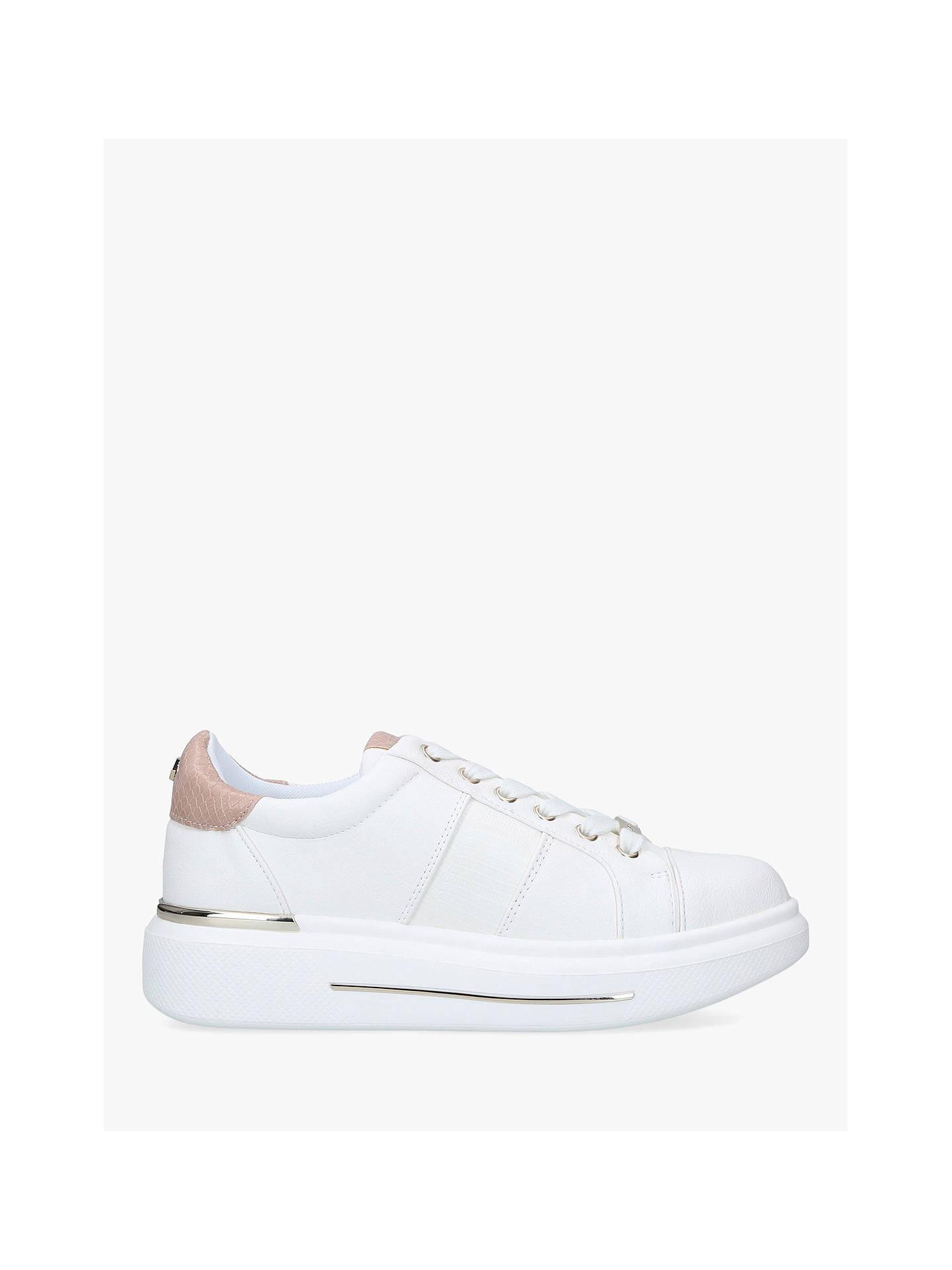 Carvela Jubilate Heel Embellished Chunky Trainers, White/Pink by Carvela
