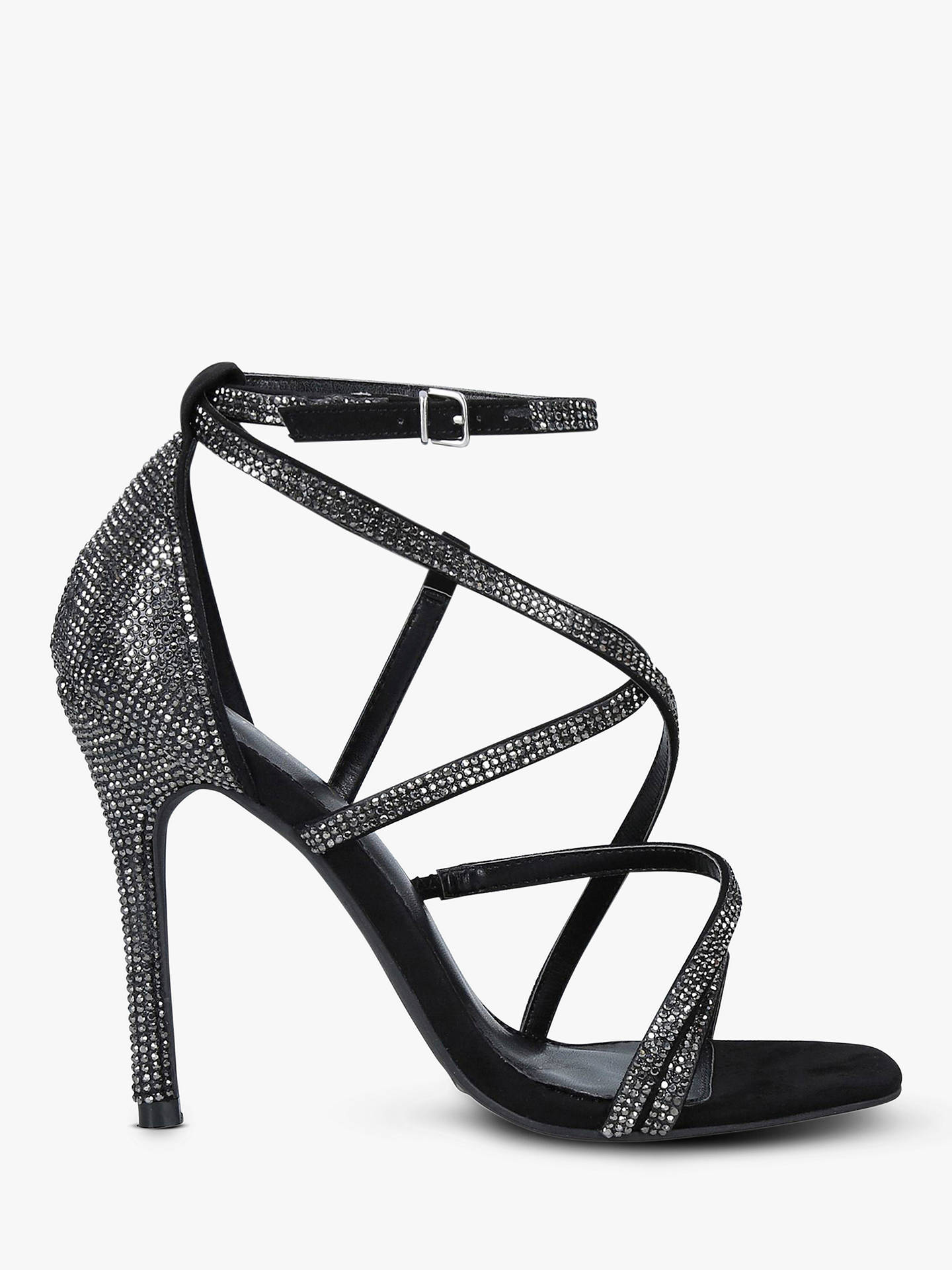 6da649ac049 Carvela Ginger Sparkly Stiletto Heel Strappy Sandals, Black