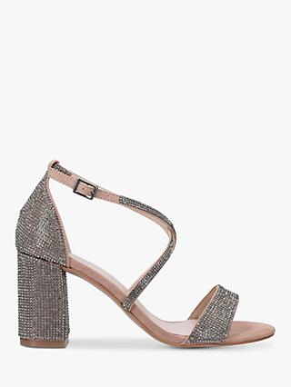 Carvela Girls Embellished Block Heel Sandals, Camel
