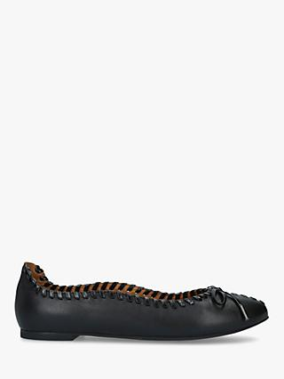 See By Chloé Stitch Leather Ballerina Pumps, Black