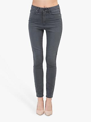 Paige Margot High Rise Ultra Skinny Jeans, Smokey Night Dark Grey