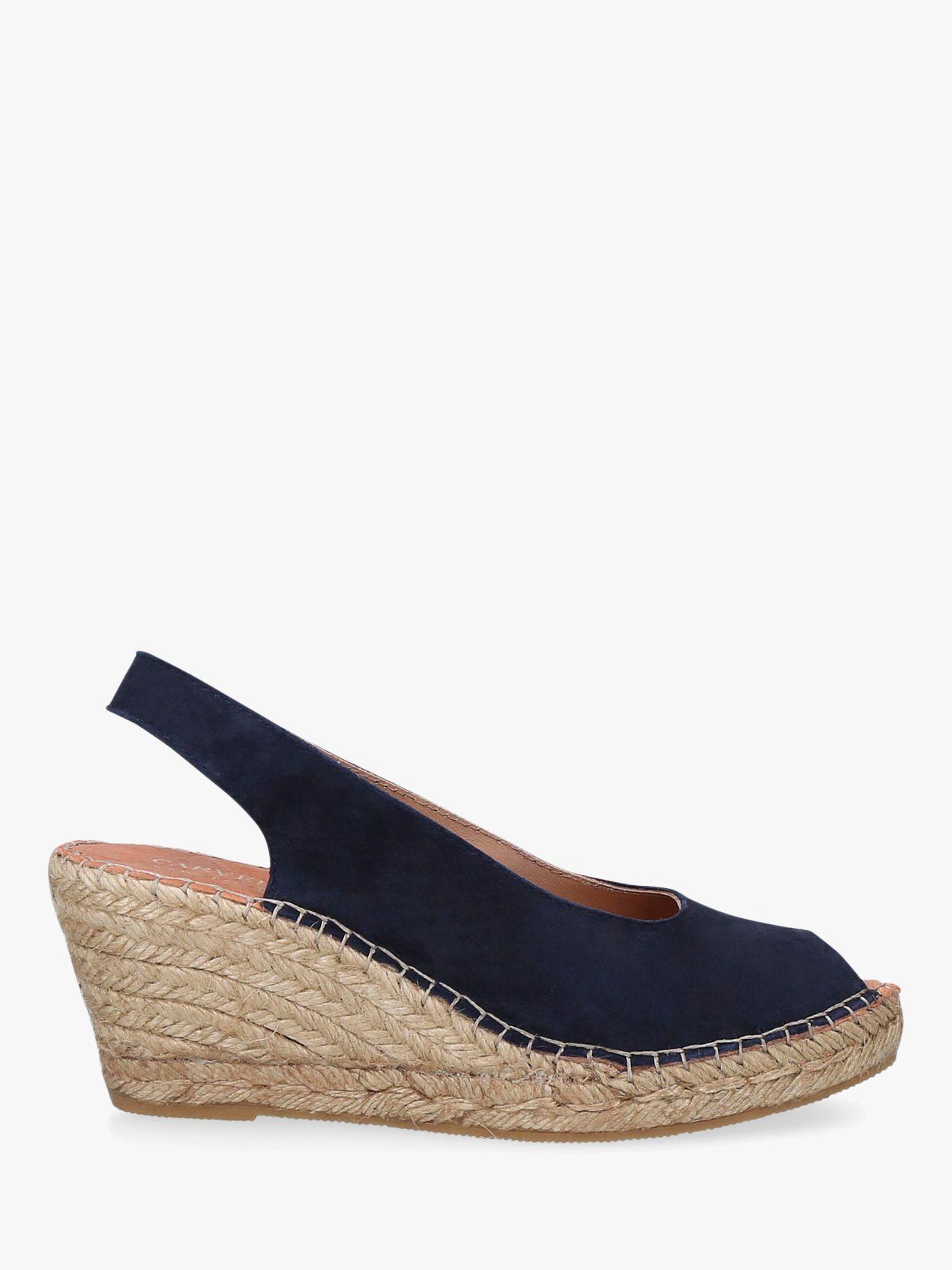 Carvela Comfort Carvela Comfort Sharon Wedge Heel Espadrille Sandals, Navy Blue