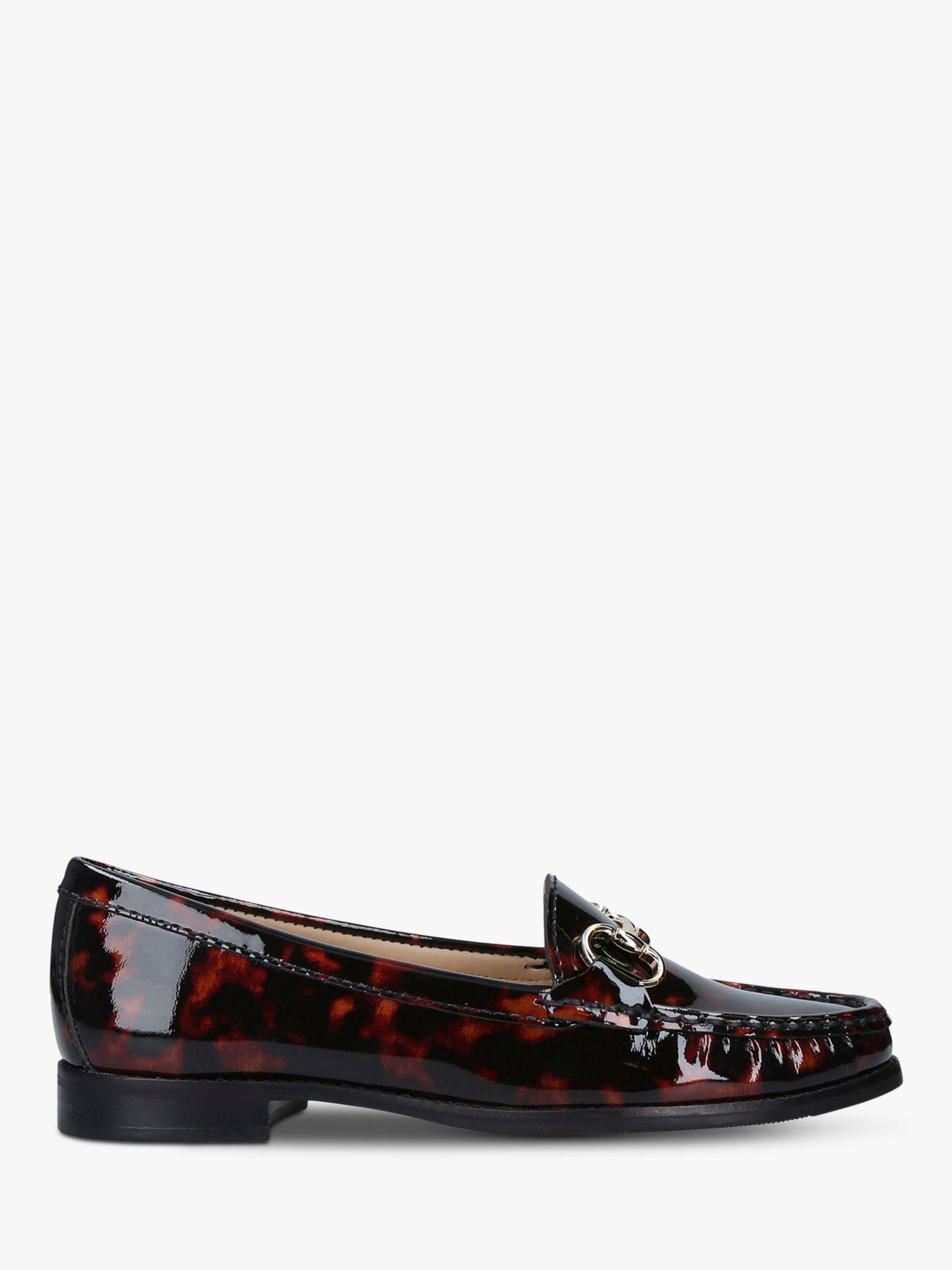 Carvela Comfort Carvela Comfort Click Patent Loafers, Dark Brown