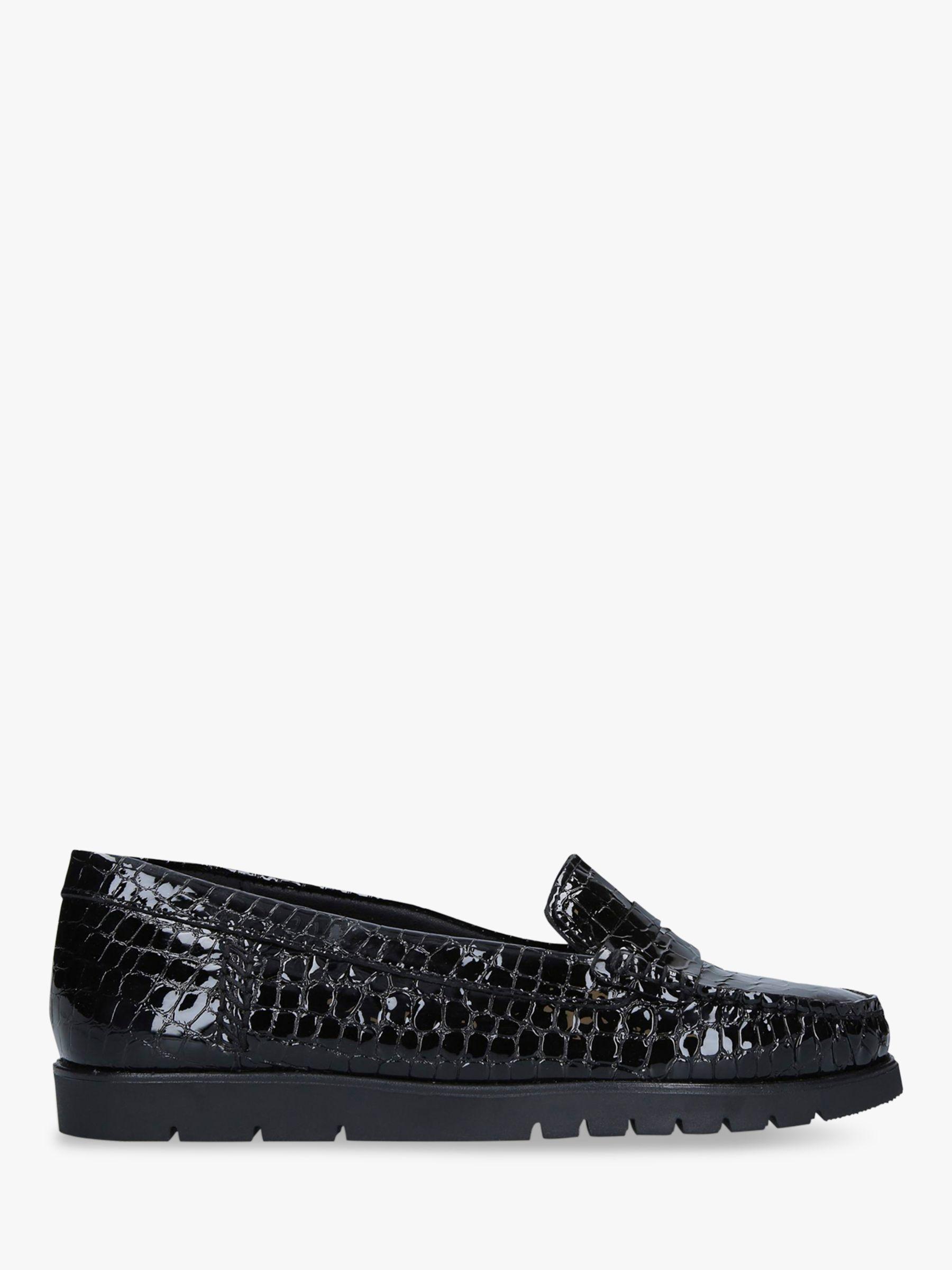 Carvela Comfort Carvela Comfort Cath Croc Print Patent Loafers, Black