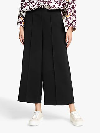 Kin Twill Wide Leg Cropped Trousers, Black