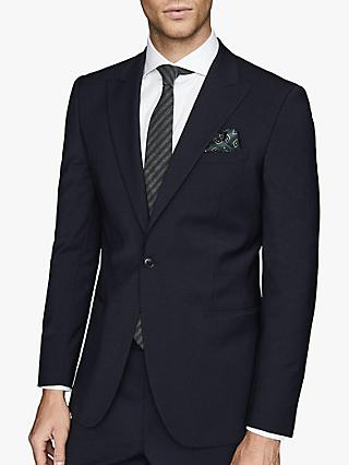 Reiss Wander Peak Lapel Slim Fit Suit Jacket, Navy
