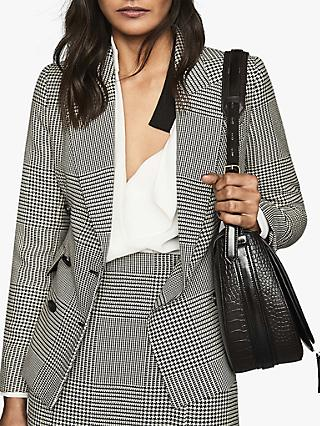 Reiss Tyler Houndstooth Slim Fit Jacket, Monochrome