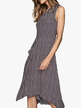 Reiss Nia Geo Midi Dress, Multi