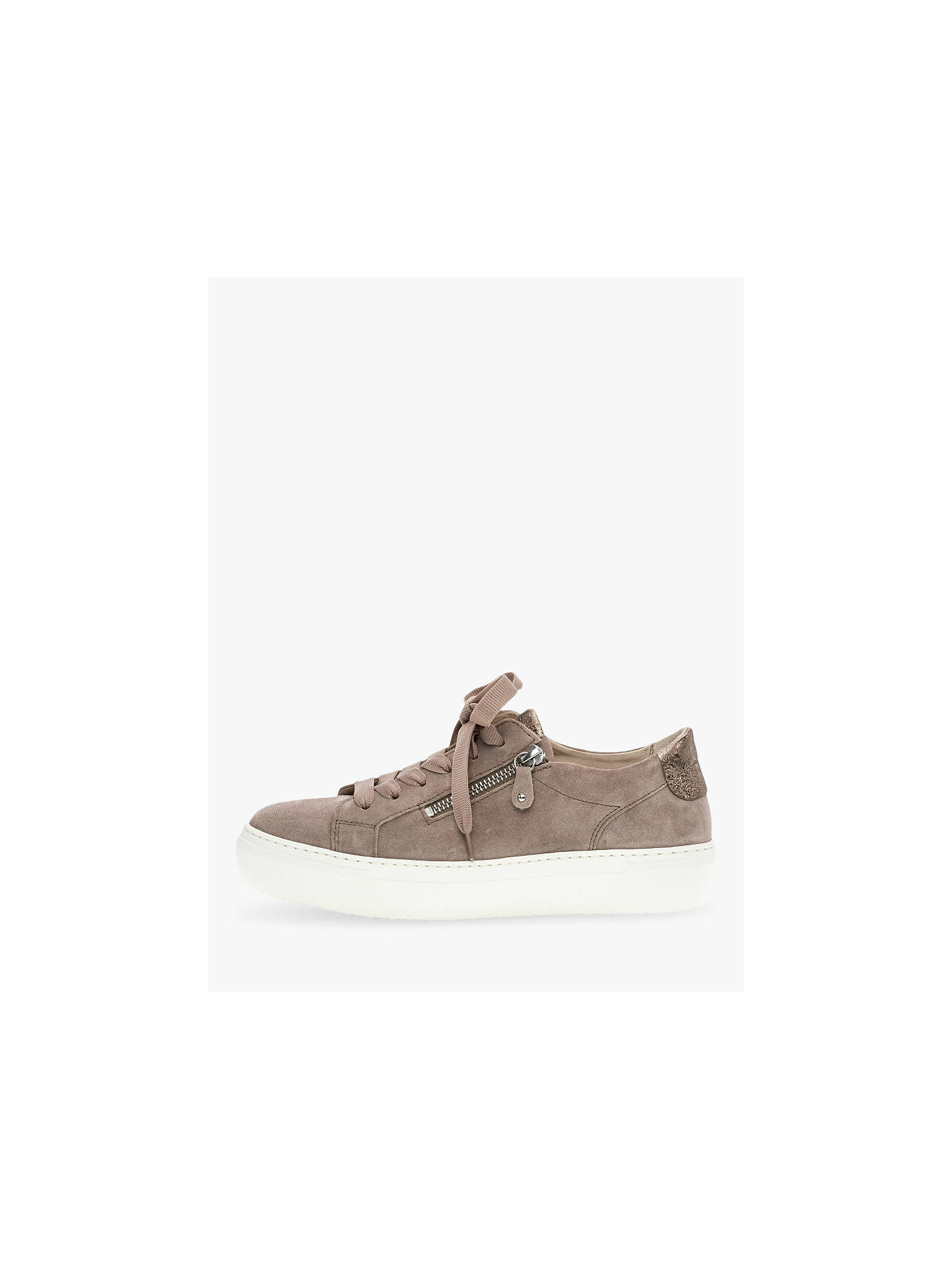Buy Gabor Michaela Suede Low Top Trainers, Rouge/English Rose, 4 Online at johnlewis.com