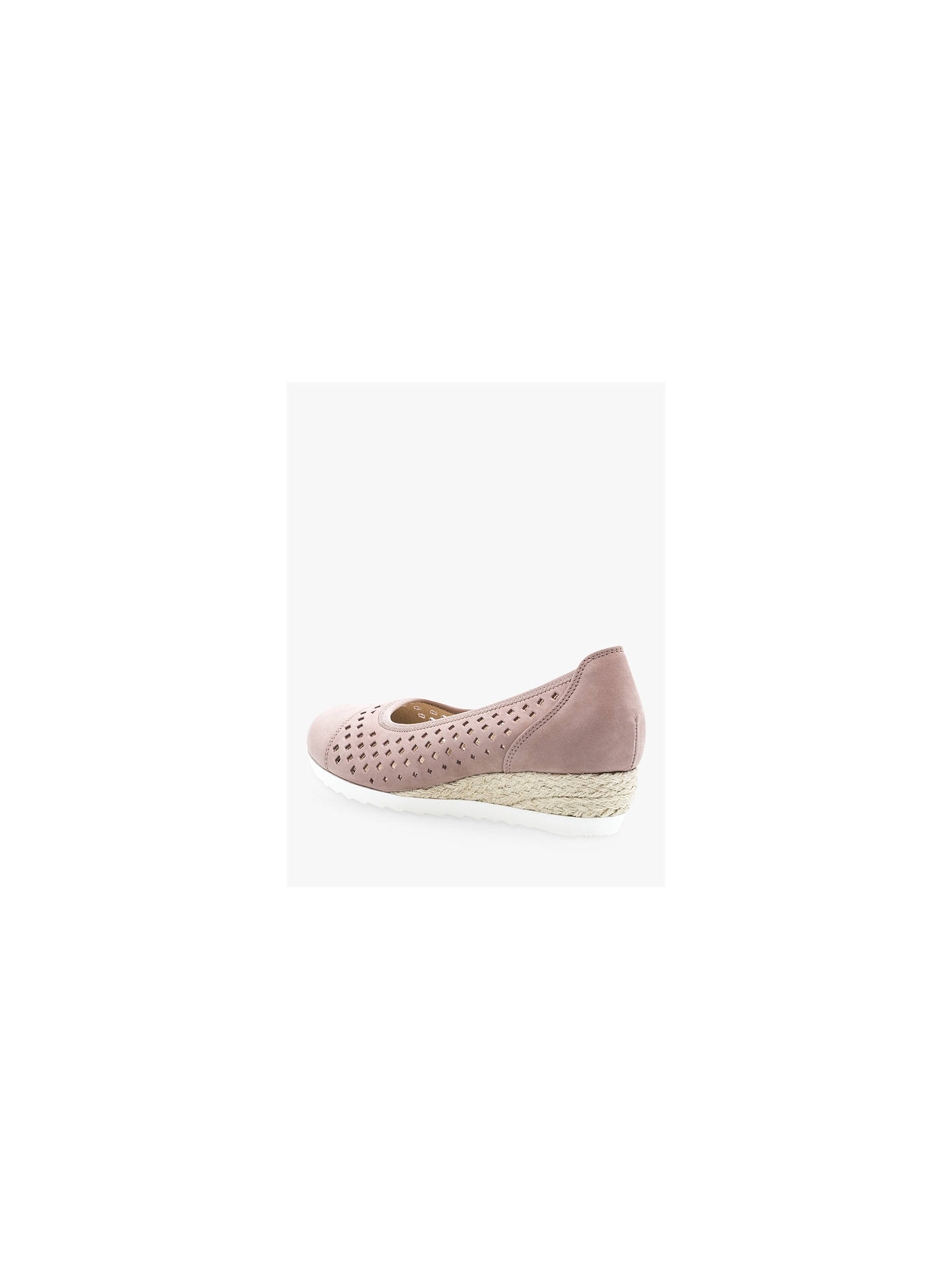 Gabor Evelyn Wide Fit Low Wedge Pumps at John Lewis & Partners