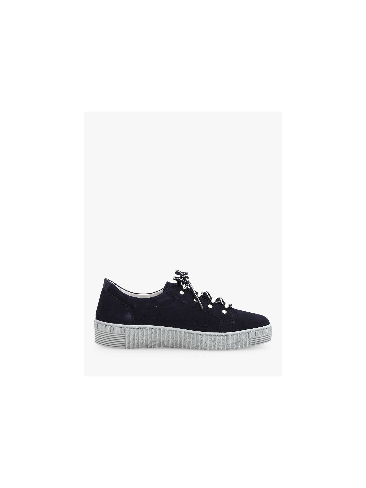 Buy Gabor Waffle Suede Low Top Trainers, Bluette/Night, 6 Online at johnlewis.com