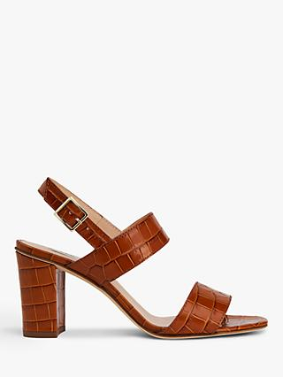 L.K.Bennett Rhiannon Croc Sandals, Brown