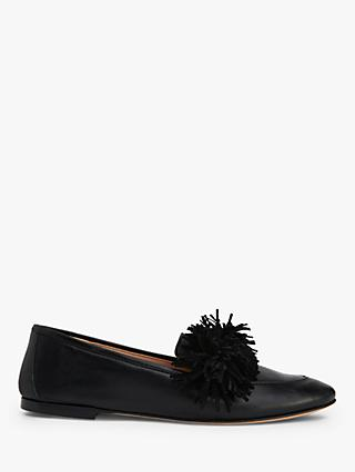 L.K.Bennett Lera Leather Tassel Loafers, Black