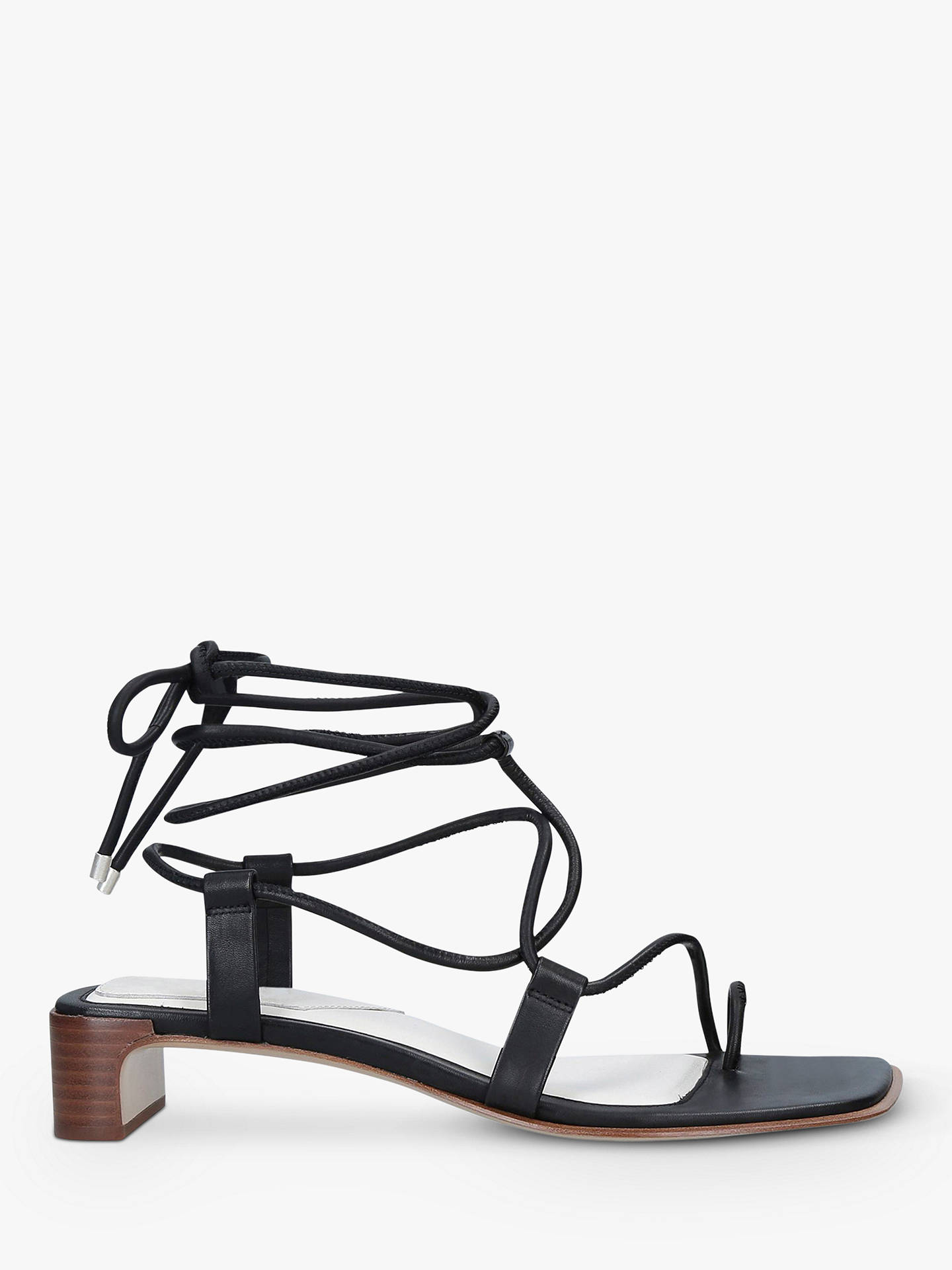 f3652eff31c9e rag & bone Cindy Leather Lace-Up Sandals, Black at John Lewis & Partners