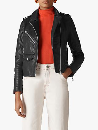 Whistles Agnes Leather Biker