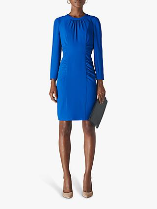 Whistles Izzey Textured Bodycon Dress, Blue