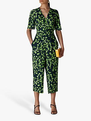 Whistles Digital Daisy Print Jumpsuit, Navy/Multi