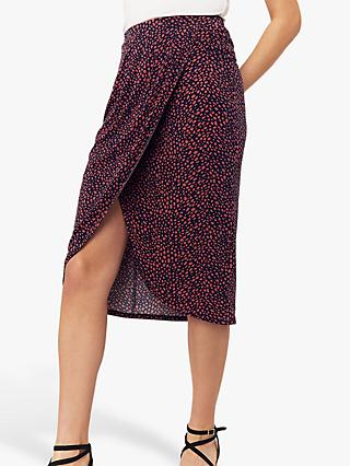 ecd90e78ca Oasis Isla Animal Print Wrap Skirt, Multi Blue