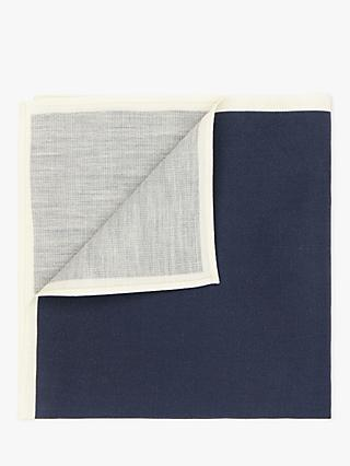 John Lewis & Partners Cotton Silk Pocket Square