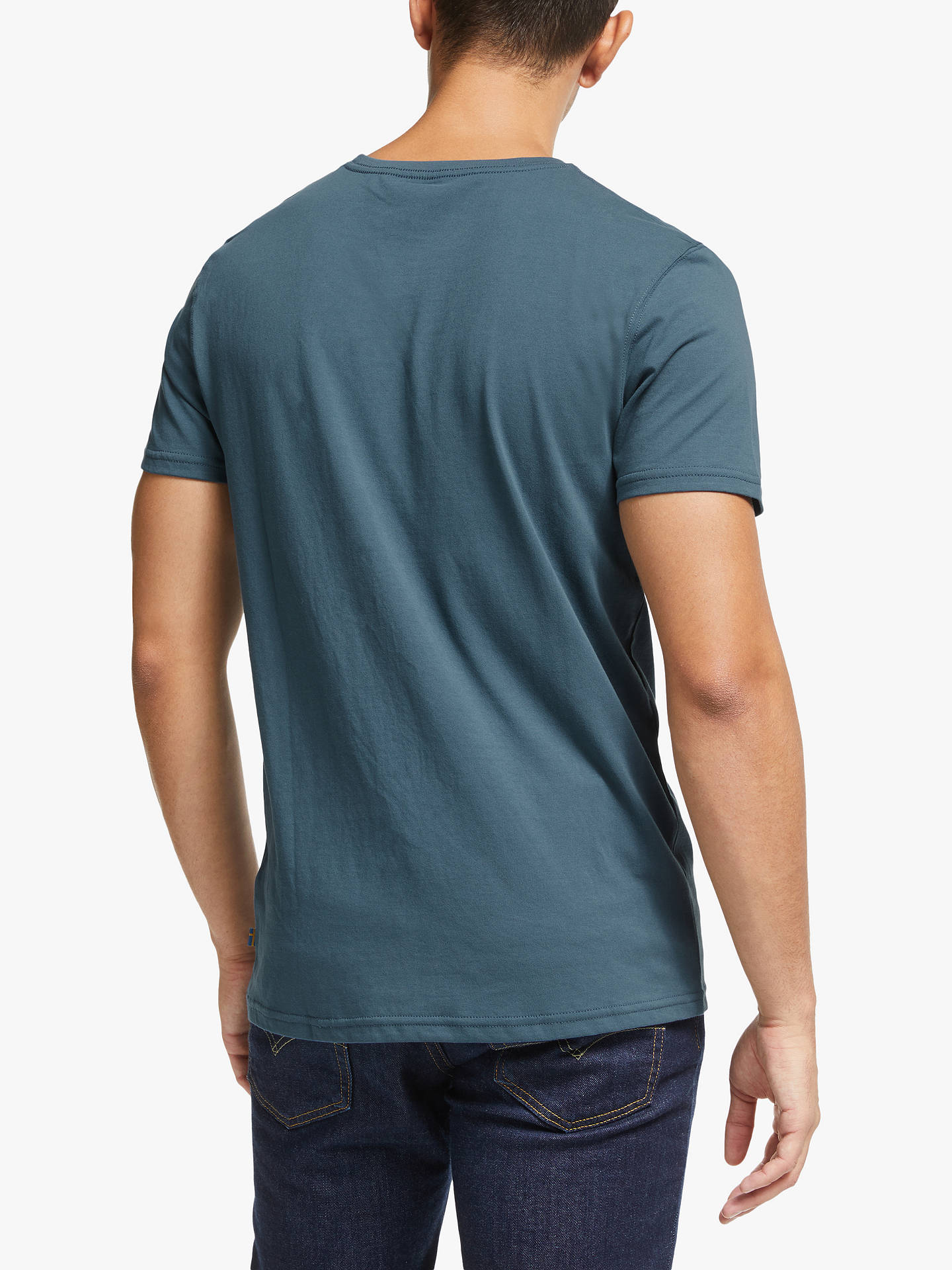 Buy Fjällräven Logo T-Shirt, Uncle Blue, S Online at johnlewis.com