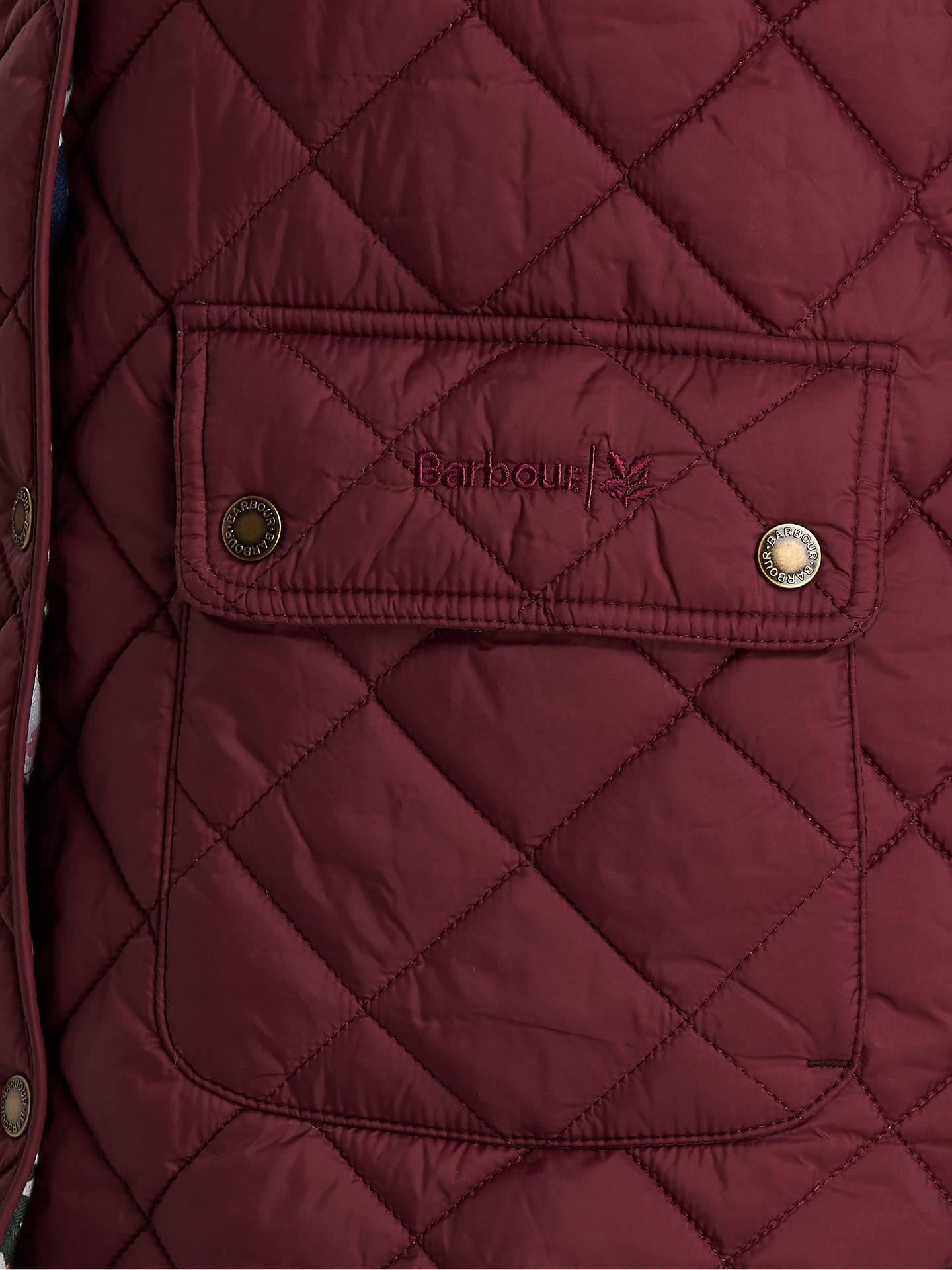 Buy Barbour National Trust Moors Quilted Jacket, Burgundy, 8 Online at johnlewis.com