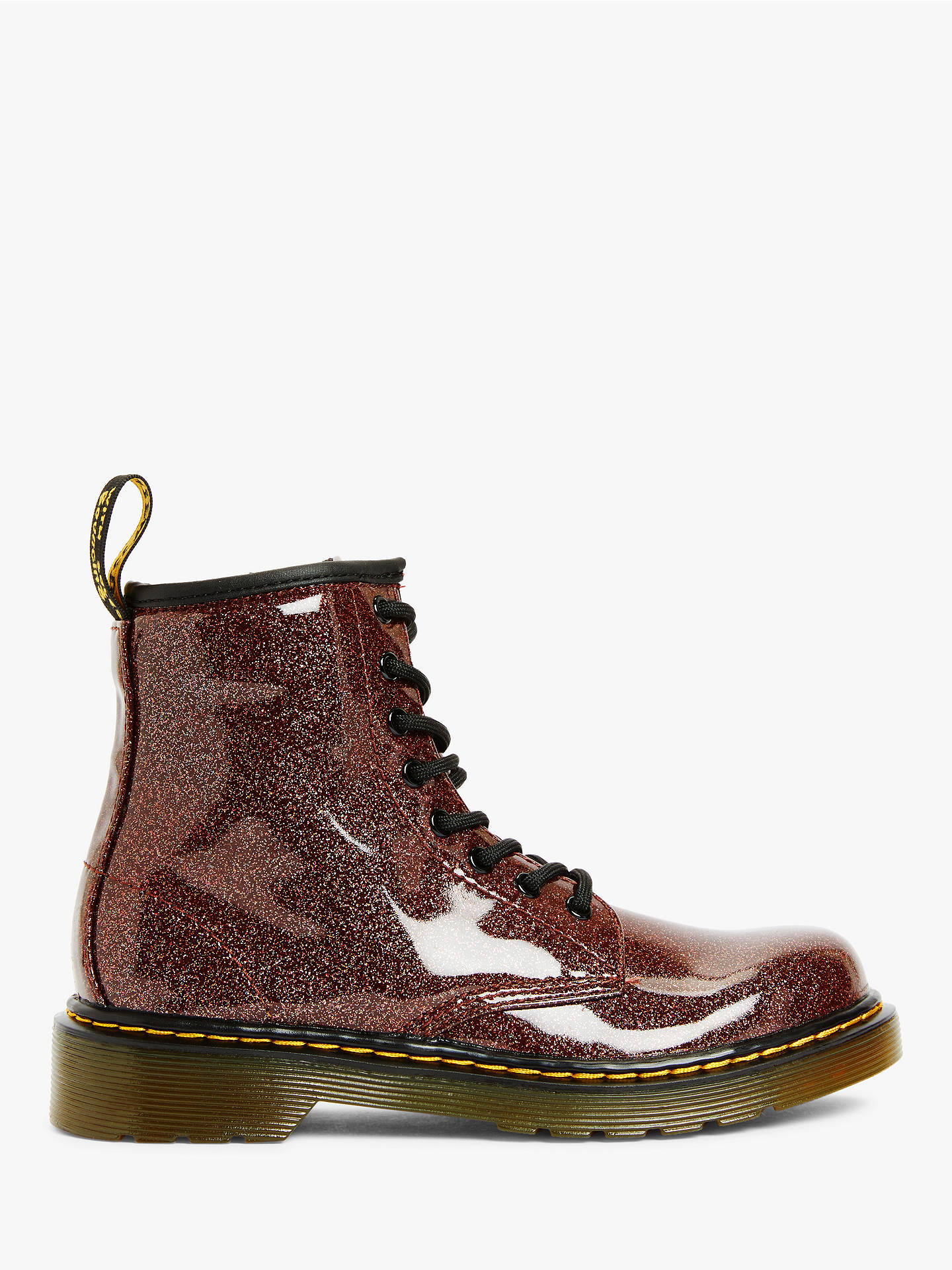 Dr Martens Children's 1460 Coated Glitter Lace Up Boots at