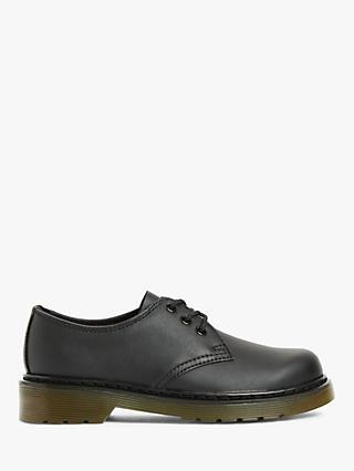 Dr Martens Children's 1461 3-Eye Lace Up Brogues, Black Leather
