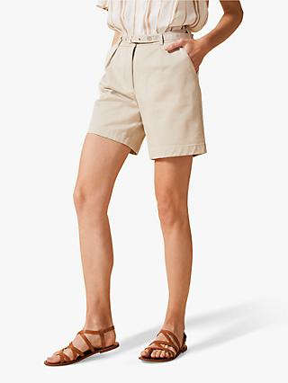 Phase Eight Morag City Shorts, Stone