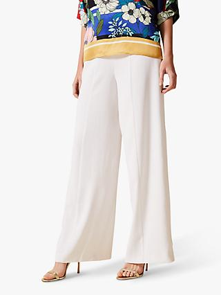 Phase Eight Santita Wide Leg Trousers, White