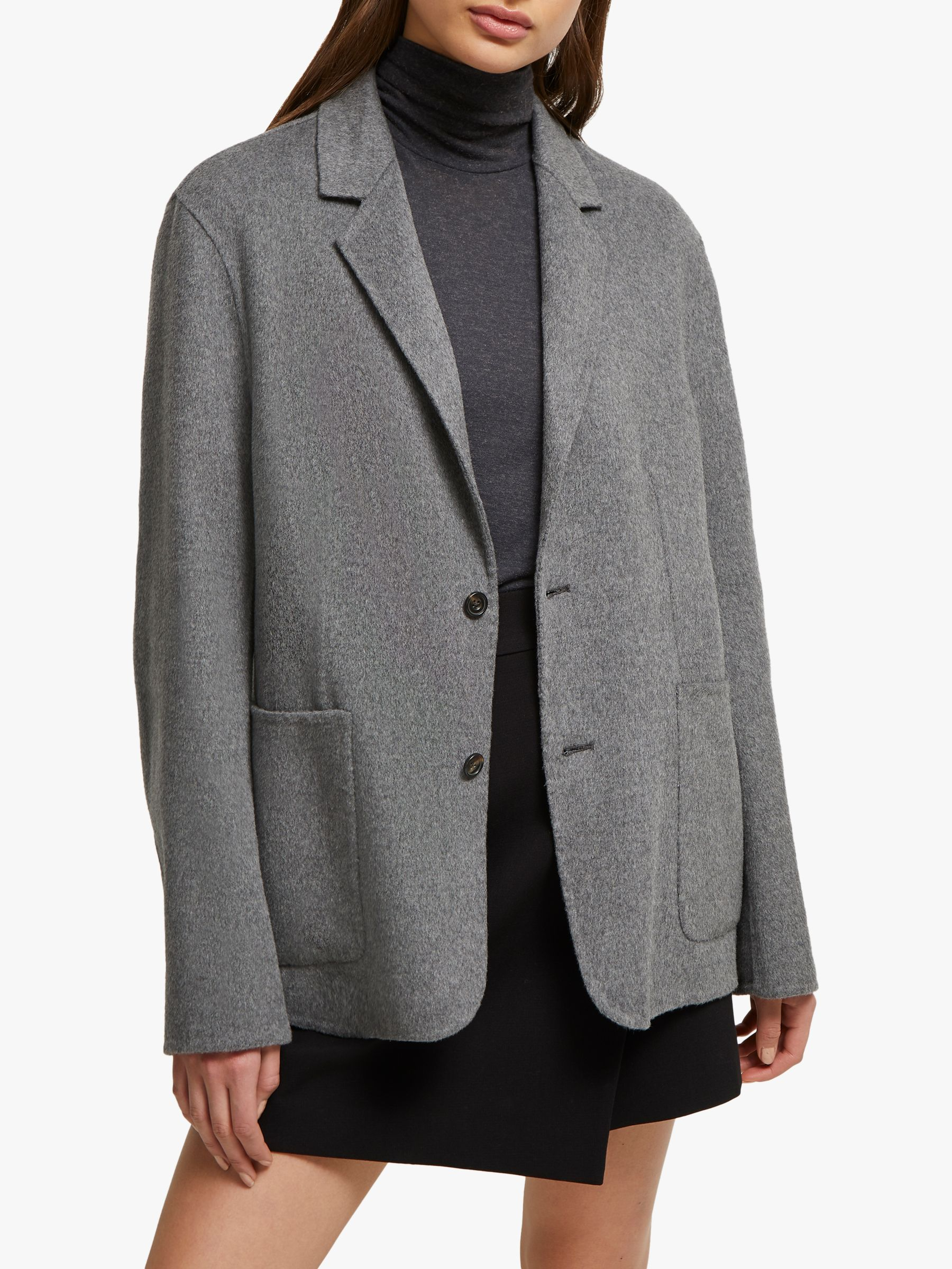 French Connection French Connection Daralicia Knit Blazer, Grey Melange