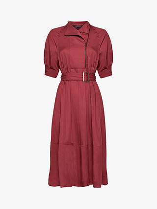 Buy French Connection Clarita Shirt Dress, Rhubarb, 12 Online at johnlewis.com