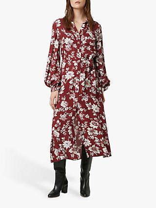 French Connection Aletta Shirt Dress, Rhubarb/Multi