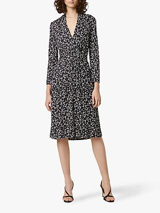 French Connection Angelina Dress, Black/White