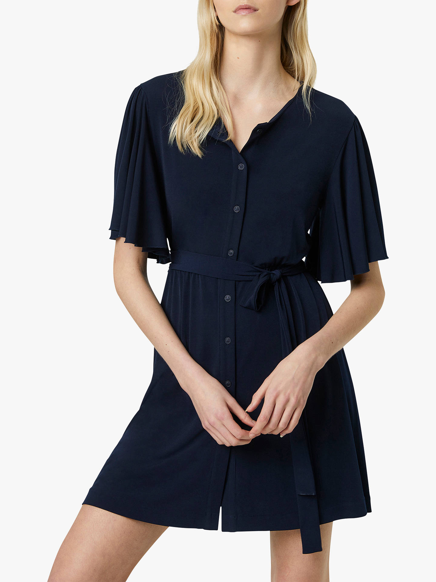 415dddd65b0 Buy French Connection Serafina Slinky Jersey Belted Dress, Navy, 6 Online  at johnlewis.