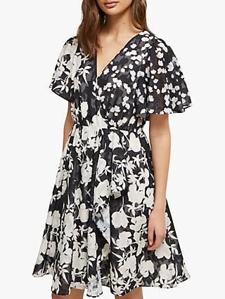 French Connection Bamba Dress, Black/Cream