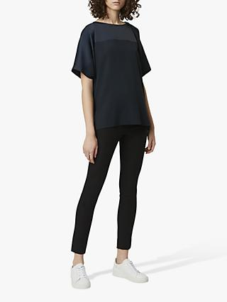 French Connection Tanja Satin Blend Top