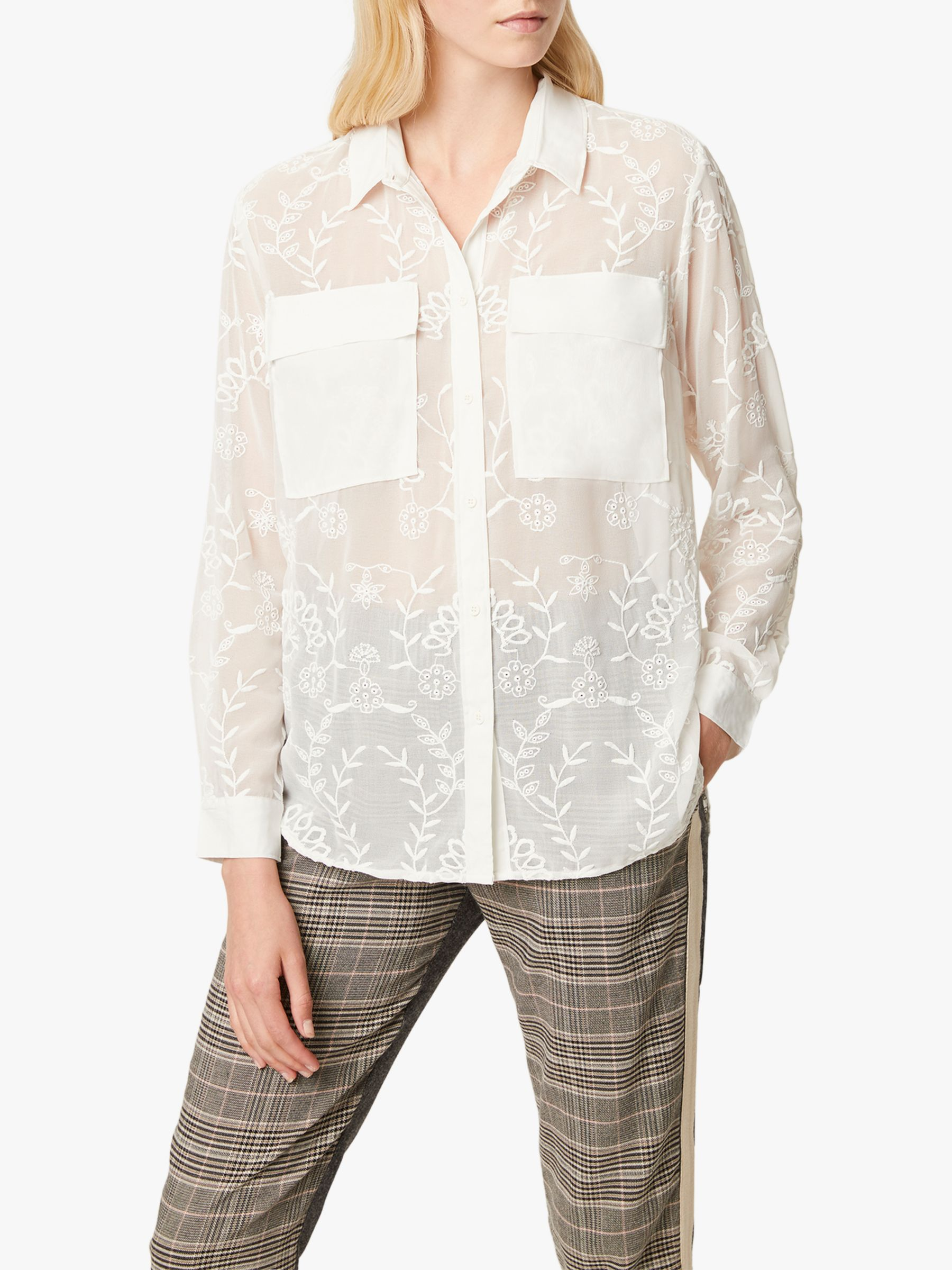 French Connection French Connection Cornelia Embroidered Shirt, White