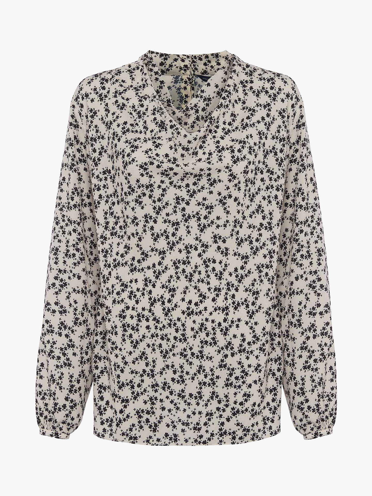 Buy French Connection Bruna Floral Print Long Sleeve Top, Classic Cream/Black, 6 Online at johnlewis.com