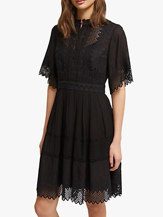 French Connection Drina Lace Sleeveless Dress, Black