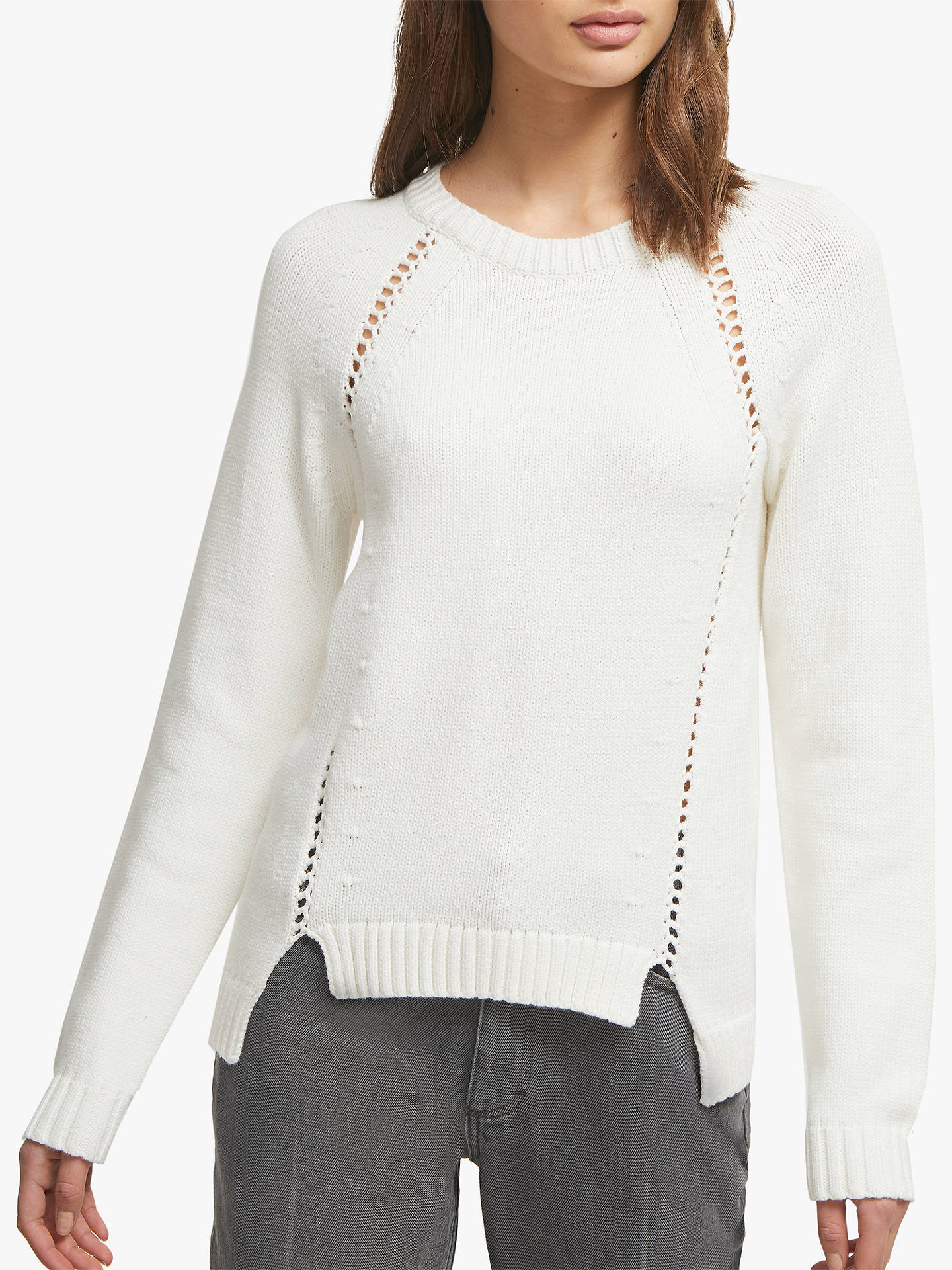 8544d0d26 French Connection Vedette Crew Neck Jumper, Winter White