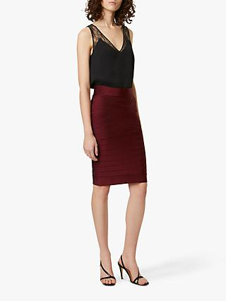 French Connection Zasha Spotlight Skirt, Berry Blush