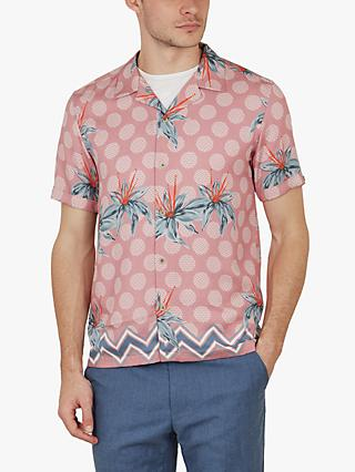 e3f5eb75 Ted Baker Daviid Floral Pattern Shirt, Mid Pink